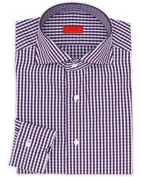 Isaia - Regular-fit Gingham Quadretti Dress Shirt - Lyst