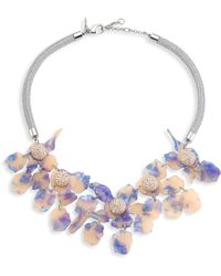 Lele Sadoughi - Crystal Lily Necklace - Lyst