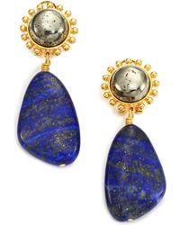 Nest | Lapis Lazuli & Pyrite Drop Earrings | Lyst
