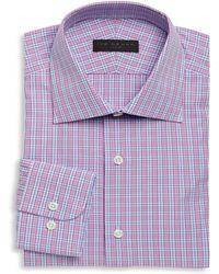 Ike Behar - Regular-fit Plaid Dress Shirt - Lyst