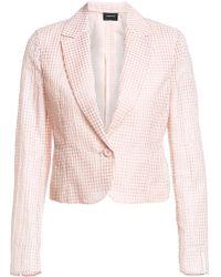 91e49bbc966 Akris - Women s Ambrosia Square Ajouré Jacket - Blush - Size 4 - Lyst