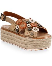 COACH - Tea Rose Leather Espadrilles - Lyst
