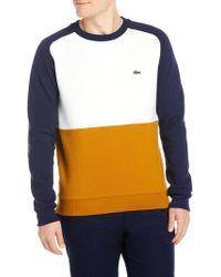Lacoste   Block Knitted Sweatshirt   Lyst