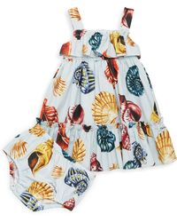 Dolce & Gabbana - Baby Girl's Two-piece Cotton Printed Dress And Bloomers Set - Lyst