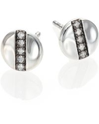 Ippolita - Glamazon Stardust Diamond & Sterling Silver Mini Disc Stud Earrings - Lyst