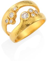 Gurhan - Pointelle Diamond & 22-24k Yellow Gold Dual Ring - Lyst