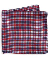 Saks Fifth Avenue - Collection Reversible Plaid Pocket Square - Lyst