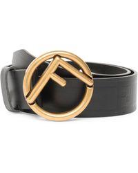 Fendi - Vitello Havana Riga Leather Belt - Lyst