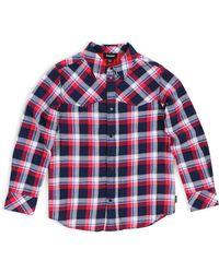 22039ad0 DIESEL - Baby Boy's Plaid Long-sleeve Shirt - Peacoat Blue - Lyst
