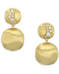 Marco Bicego - Africa 18k Yellow Gold Diamond Earrings - Lyst