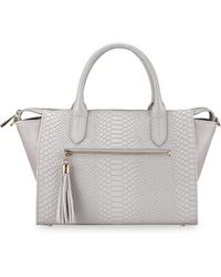 Gigi New York - Grace Embossed Leather Satchel - Lyst