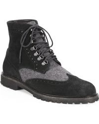 Saks Fifth Avenue - Collection Wingtip Suede Combat Boots - Lyst