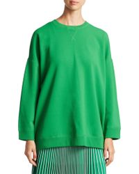 Valentino - Stretch Ribbed Sweatshirt - Lyst