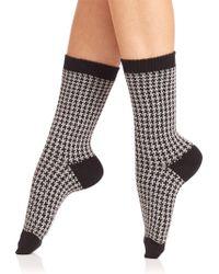 Ilux - Gigi Houndstooth Anklet Socks - Lyst