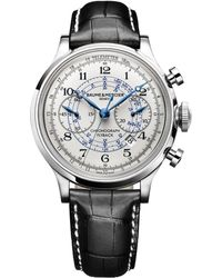 Baume & Mercier | Capeland 10006 Flyback Stainless Steel & Alligator Strap Chronograph Watch | Lyst
