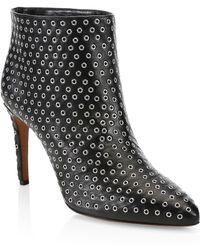 Alaïa - Studded Leather Ankle Boots - Lyst