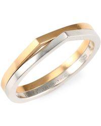 Repossi - Antifer 18k Rose & White Gold Colorblock Ring - Lyst