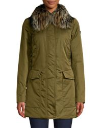 Post Card - Barwa Silver Fox Fur Collar Jacket - Lyst