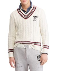 Polo Ralph Lauren - Striped Cricket Sweater - Lyst