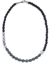 Peserico - Glass & Wood Beaded Necklace - Lyst
