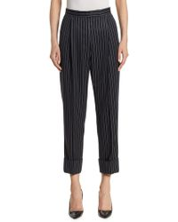 Thom Browne - Pinstripe High-waist Single Pleat Trousers - Lyst