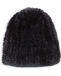Surell - Rex Rabbit Fur Hat - Lyst