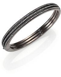 Adriana Orsini - Pavé Crystal Three-row Bangle Bracelet - Lyst