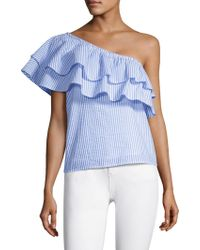 Vineyard Vines - Seersucker One-shoulder Top - Lyst