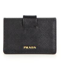 Prada | Saffiano Leather Accordion Card Case | Lyst