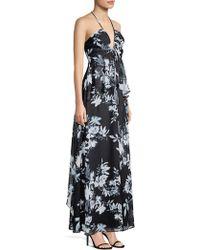 BCBGMAXAZRIA - Floral-print Ruffled Gown - Lyst
