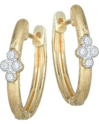 Jude Frances - Provence Diamond & 18k Yellow Gold Hoop Earrings - Lyst