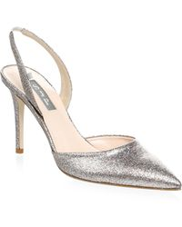SJP by Sarah Jessica Parker | Bliss Glitter Slingback Court Shoes | Lyst