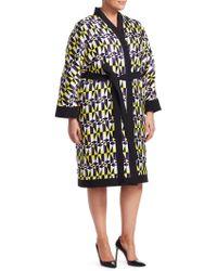 Marina Rinaldi - Fausto Puglisi X Fedelta Geometric Print Kimono Jacket - Lyst