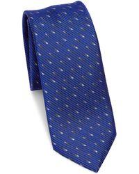 Saks Fifth Avenue - Modern Silk Dash-print Tie - Lyst