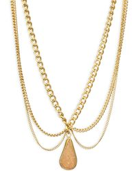 Chan Luu | Scalloped Agate Pendent Necklace | Lyst