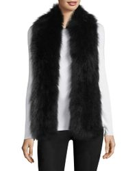 Surell - Fox Fur Pull-through Scarf - Lyst
