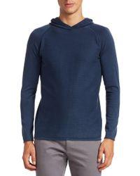 Saks Fifth Avenue - Modern Garment Dyed Cotton Hooded Jumper - Lyst