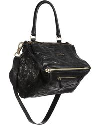Givenchy - Women s Pandora Medium Pepe Leather Shoulder Bag - Black - Lyst eb9106af9b1ab