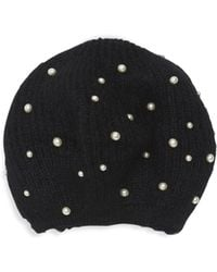 Jennifer Behr - Coco Imitation Pearl Mohair Beret - Lyst