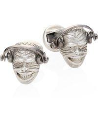 Saks Fifth Avenue - Rhodium-plated Monkey Head Cuff Links - Lyst