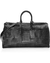 Santiago Gonzalez - Crocodile Skin Duffle Bag - Lyst