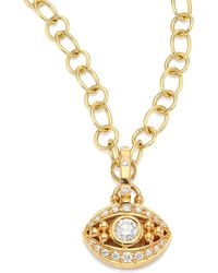 Temple St. Clair - Evil Eye Diamond & 18k Yellow Gold Pendant - Lyst