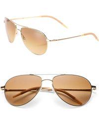 Oliver Peoples - Men's Benedict 16mm Aviator Sunglasses - Gold - Lyst