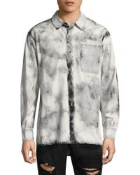 True Religion - Washed Long-sleeve Button-down Shirt - Lyst