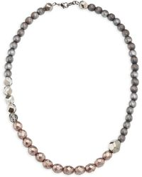 Peserico - Wood & Glass Beaded Necklace - Lyst