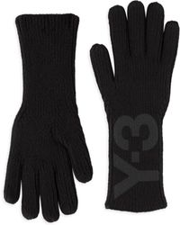 Y-3 | Logo Print Ribbed Gloves | Lyst
