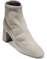 Cole Haan - Laree Stretch Leather Booties - Lyst
