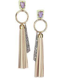 Alexis Bittar - Elements Crystal Ring & Tassel Drop Earrings - Lyst