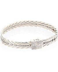 John Hardy - Modern Chain Diamond & Sterling Silver Extra-small Bracelet - Lyst