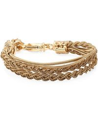 Emanuele Bicocchi - 24k Goldplated Sterling Silver Double Braided Bracelet - Lyst